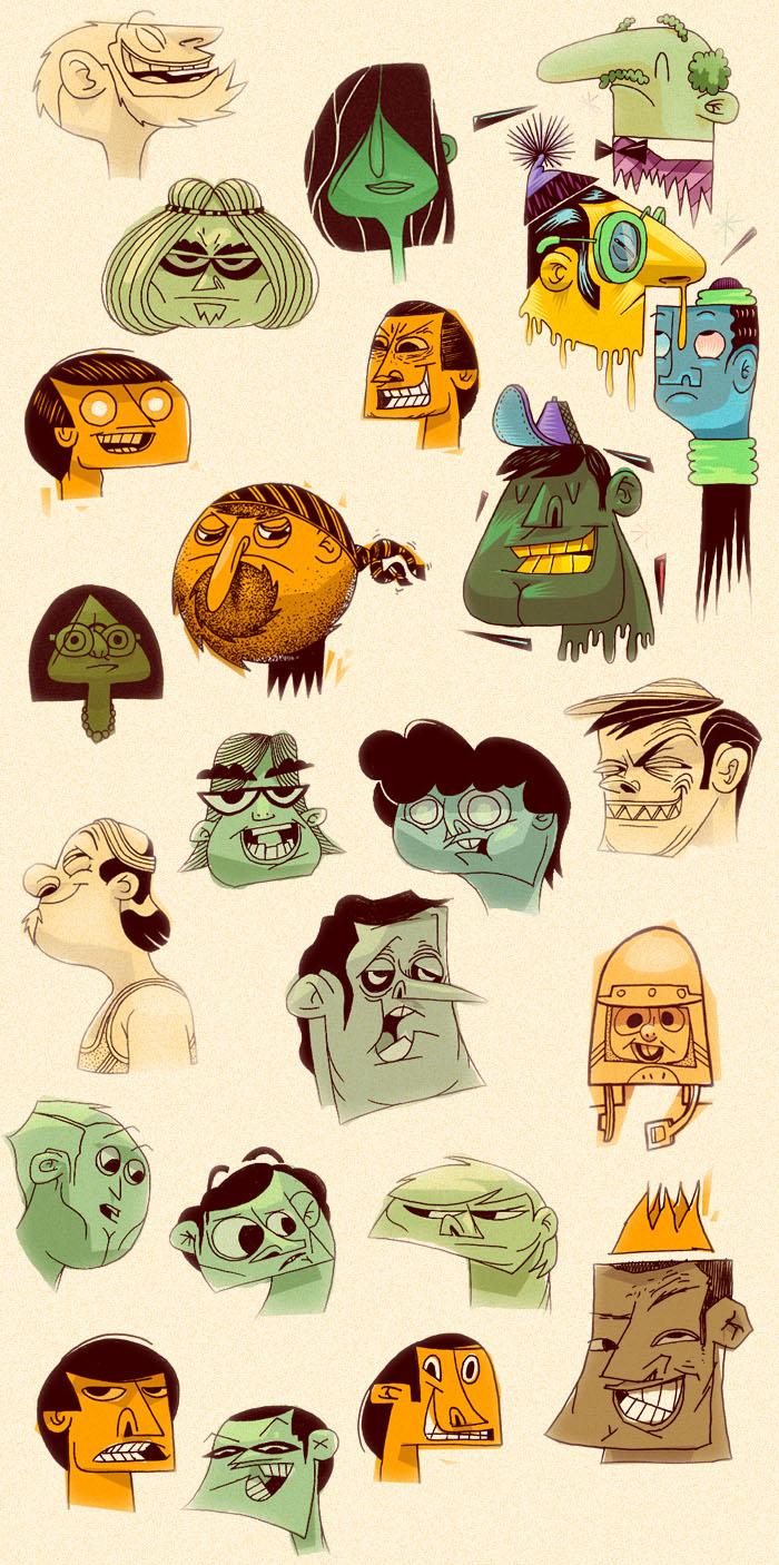 Character Design Research : Genevieve gauckler research eli v character design