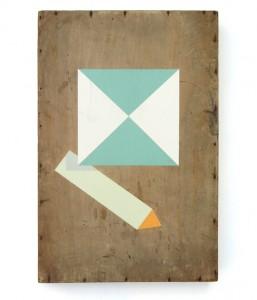 Lennard Schuurmans - Like a pen - Acrylics on wood