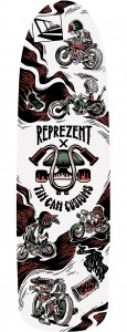 Skateboard deck tin can customs x reprezent Lennard Schuurmans
